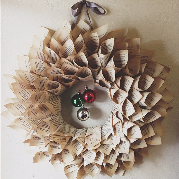 Betsy Crocker: Book Page Wreath