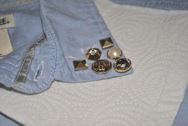Betsy Crocker: DIY Embellished Chambray Shirt